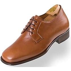 Zapatos con Alzas HiPlus 8130 M en Piel Boxcalf marrón,