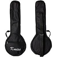 Kmise Banjo ukelele de 4 cuerdas, uke banjo, banjolele, de concierto, tamaño de 58,4cm, madera de sapeli., Banjolele bag