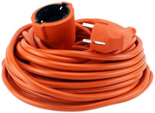 Stromkabel 20 Meter, Verlängerungskabel Gummiert orange Außen/Innen GYD