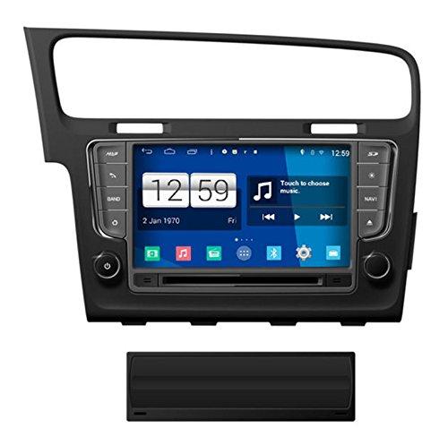 Roverone Système Android 8 Pouces double DIN EN Voiture Dash GPS Navi Navigation pour VW pour Volkswagen Golf 7 MK7 avec autoradio stéréo DVD Bluetooth SD USB écran tactile