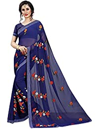 4c55988f417 Febo Fashion Multi Color Faux Georgette Fabric Embroidered Work Saree For  Women