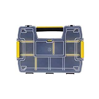 Stanley Sortmaster Doppelorganizer Werkzeugbox leer STST1-71197 - Stapelbarer Werkzeugkasten mit entnehmbare Einsätzen & kombinierbar mit bis zu zwei weiteren Organizern