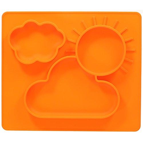 jatedo-baby-assiettes-et-espace-tapis-2-en-1-pour-votre-bebe-ou-enfant-35-x-30-cm-orange-en-silicone