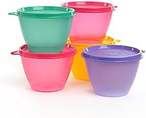 Tupperware Bowled Over Plastic Container Set, 450ml, Set of 2, Multicolour
