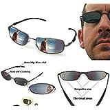 Electro-Weideworld - Anti-Track gafas de sol de vigilancia Espejo Rear Mirror View Rearview Behind Espía Sunglasses