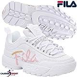 Fila Womens Disruptor II Premium Velour Sneakers