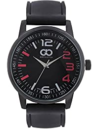 Gio Collection Analog Black Dial Men's Watch - G0046-01