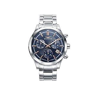 Sandoz 81383-37 Reloj Hombre Cuarzo Suizo Crono Tamaño 43 mm Brazalete