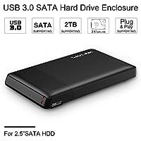 "WAVLINK Cárcasa para Discos Duros Externos DE 2.5"" con USB 3.0 DE Alta Velocidad para SATA I/II/III Materia de Óptimo Enfriamiento, Plug & Play/Hot-Swapping/UASP Mode, Optimizado para SSD/HDD"