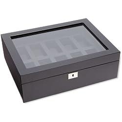 Wolf Uhrenbox Savoy 10 Schwarz