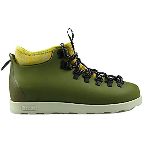 Native, Uomo, 2 Fitzsimmons Block Rookie Green Honey Yellow, Poliestere, Boots, Verde