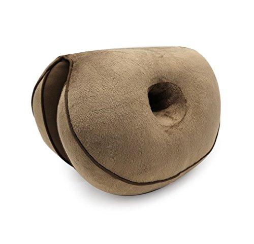 Fsha-Book Cojín de asiento de látex/espuma de memoria – 3D Premium diseño contorneado creado para reducir el cocix, ciática y dolor de hueso, además de mejorar la postura, Coffer, Emulsion