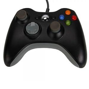 OSTENT Verdrahtet USB Controller Gamepad Joystick Joypad Kompatibel für Microsoft Xbox 360 Konsole Windows PC Laptop Videospiele Farbe Schwarz