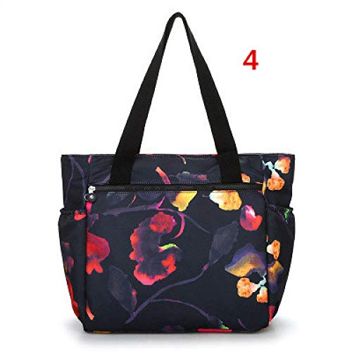 Louis Vuitton Canvas Tote Bag (GMYANDJB Style Waterproof Nylon Reusable Shopping Bag Floral Print Women Shoulder Handbags Large Capacity Travel Canvas Causal Tote)