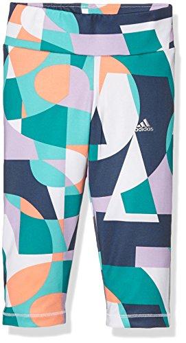 adidas Mädchen Capri-hose YG W F 3/4 T Grün/Lila/Weiß, 170 -