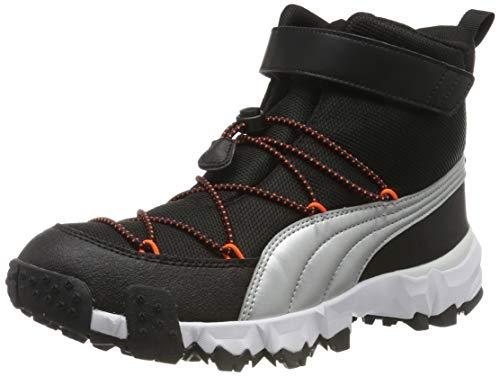 Puma Unisex-Kinder Maka V Jr Sneaker, Black-Nrgy Red 03, 39 EU