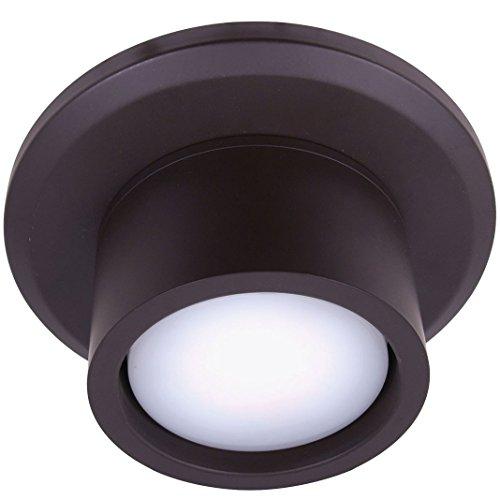 Dunkle Bronze Air (Beleuchtung Airfusion CNC von Lucci fini, für Deckenventilator Lucci Air Airfusion Climate I und Climate II, ölbehandelte dunkle Bronze, Fassung GX53, 2100244)