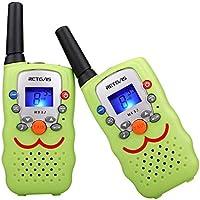 Retevis RT32 Walkie Talkie Bambini PMR446 8 Canali Ricetrasmittenti Bambini Funzione VOX Torcia Walky Talky Bambini con Cinturino Regalo di Giocattoli per Ragazzi Ragazza (Verde Chiaro, 1 Coppia)