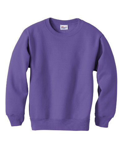 Hanes Youth ComfortBlend® EcoSmart® Crewneck Sweatshirt L Purple