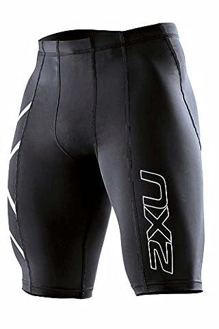 Neu Compression Shorts 2XU Herren Schwarz/Weiß S