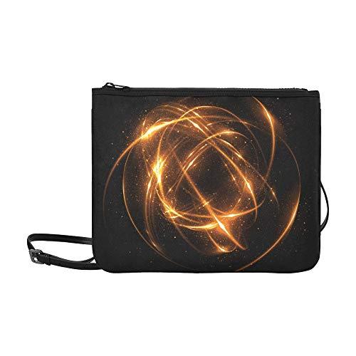 WOCNEMP Glänzende Disco-Kugel auf dem Deckenmuster Benutzerdefinierte hochwertige Nylon Slim Clutch Bag Cross-Body Bag Umhängetasche