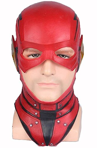 ightning Knight Maske COS Justice League Helden Kopfbedeckungen Halloween Animation Spiele Film Requisiten Geburtstagsgeschenk (Flash) ()