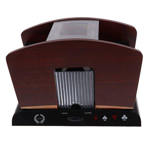 OEM 1-4 Decks Kartenspiele Pokerkarten Mischmaschine Profi Kartenmischer Elektrische Kartenmischmaschine f�r Poker-