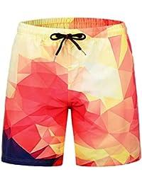 STEAM PANDA Pantalones Cortos de Playa para el Verano Bañador para Hombre  Informal Viajes Surf ded2f986cb2c