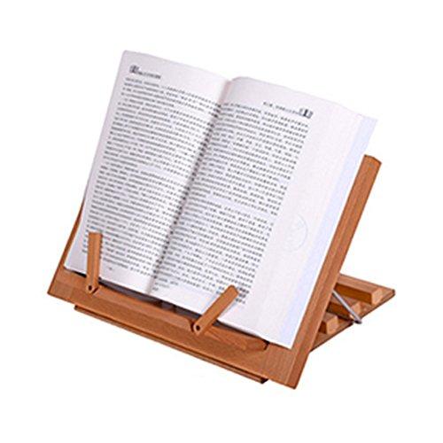 Freude Hochwertige Tischstaffelei aus Holz Book/iPad/Notebook Ständer Rezept Halterung Rahmen für Kinder Erwachsene–Holz Buch Halter für - Rezept-halter Für Ipad