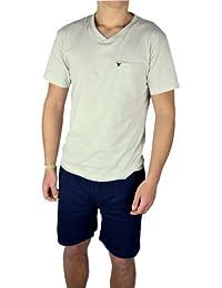 9d559a888c Herren Shorty Pyjama Schlafanzug kurz in verschiedenen Farben Baumwolle
