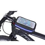 INHEMI Borsa Telaio Bici, Wheel Up 5.7 inch Porta Cellulare Bici, Borsa da Manubrio per Biciclette, Borse Biciclette Supporto Bici MTB BMX, Accessori Bici