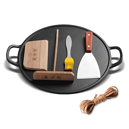 Yjjy padella da cucina, in ghisa per uso domestico ispessimento antiaderente wok non rivestito, fornello a gas a induzione universale
