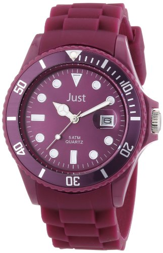 Just Watches 48-S5457-DBR - Orologio da polso unisex, silicone, colore: rosso