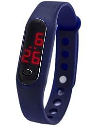 LED de moda electrónica de caramelo reloj niños pequeño reloj pulsera LED , deep blue