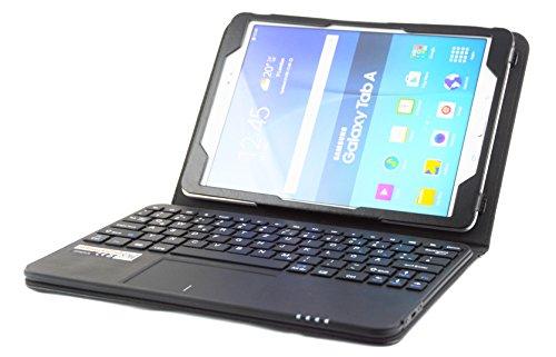 MQ für Galaxy Tab A 10.1 (2016) - Bluetooth Tastatur Tasche mit Multifunktions-Touchpad für Samsung Galaxy Tab A 10.1 WiFi SM-T580, LTE SM-T585 | Tab A 10.1 Tastatur Hülle | Layout Deutsch QWERTZ