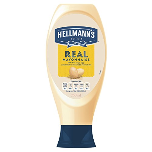 Hellmann's Real Mayonnaise Squeezy 750ml - Amerikas Nr. 1 Mayonnaise