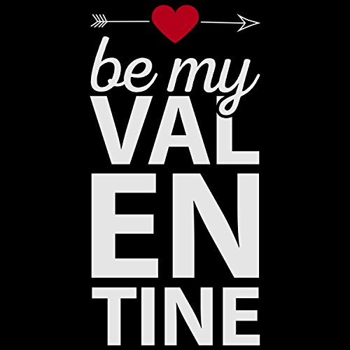 Fashionalarm Herren T-Shirt - Be My Valentine   Fun Shirt mit Spruch als Valentinstag Geschenk Idee für verliebte Paare Schwarz