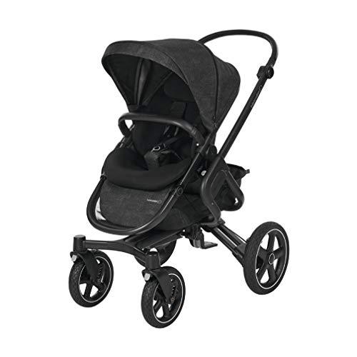 Bébé Confort Nova 4 roues, Poussette Naissance Tout-terrain, Confortable, de la Naissance à 3,5ans (0-15kg), Nomad Black