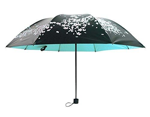 Sun Umbrella Cerisier Effacer Umbrella Trois Pliant Sun Parapluies Vinyle