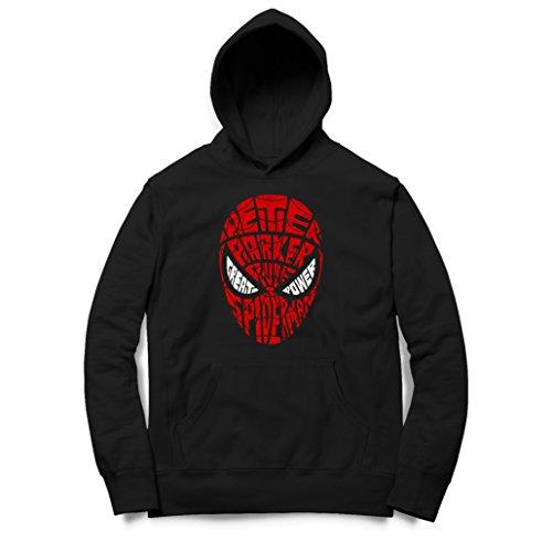 Kinder Kapuzenpullover Hoodie Peter Spiderman Parker Text ()