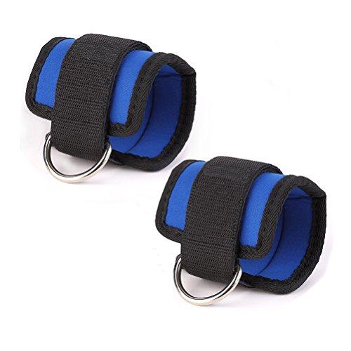 ROSENICE Handgelenk Gewichte Bein Gewichte einstellbare Knöchel-Gewichte mit Schnalle in blau, 2pcs