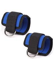WINOMO 2pcs Sport Cheville Sangle gym pour câble Machines fesses et jambes poids exercices (bleu)