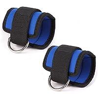 WINOMO 2pcs gimnasio de deporte tobillo correa para Cable máquinas para glúteos y piernas ejercicios de pesas (azul)