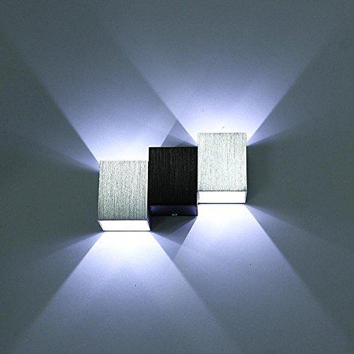 lightess apliques de pared lmpara en moda de puro aluminio led w luz clida