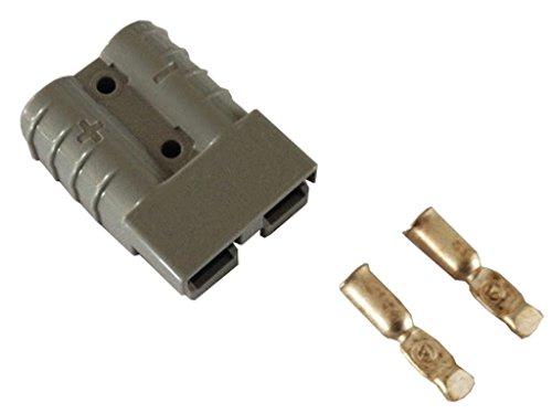 Preisvergleich Produktbild Gabelstapler Batteriekabel Ladestecker 175A 16 mm² Kabel- Steckverbindung grau