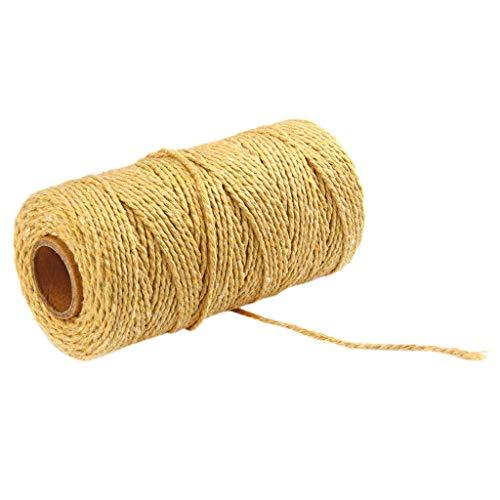 100m de long/100 Verges Cordon torsadé en Pur Coton Artisanat de Corde Macramé Corde de Coton en Coton Naturel pour la création de Bijoux, Faite à la Main,décoration de la Maison LianMengMVP