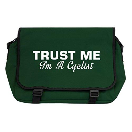 Duffle Radfahren Bag (Trust Me I 'm A Radfahrer Messenger Bag–Flasche Grün)