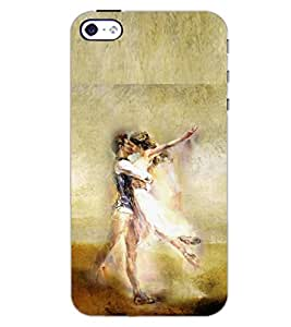 PrintDhaba LOVE COUPLE D-6633 Back Case Cover for APPLE IPHONE 4S (Multi-Coloured)