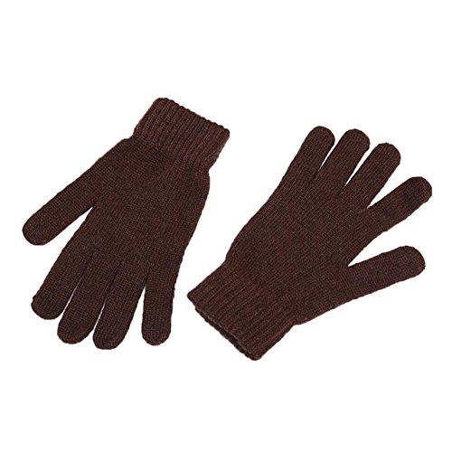 Kentop Winter Handschuhe Damen Herren Warme Handschuhe Baumwolle Handschuhe Strick Handschuhe Touchscreen Handschuhe Touch Gloves Smartphone Handschuhe (Braun)