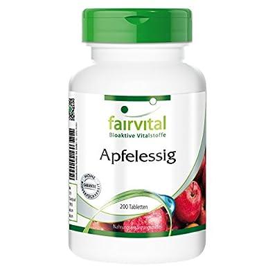 Fairvital - Apple Cider Vinegar 500mg/Capsule - 4,000mg/Day - Month's Supply - 120 Vegetarian Capsules from fairvital